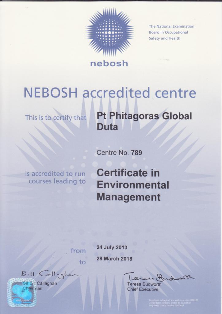 Training NEBOSH Certificate in Environmental Management