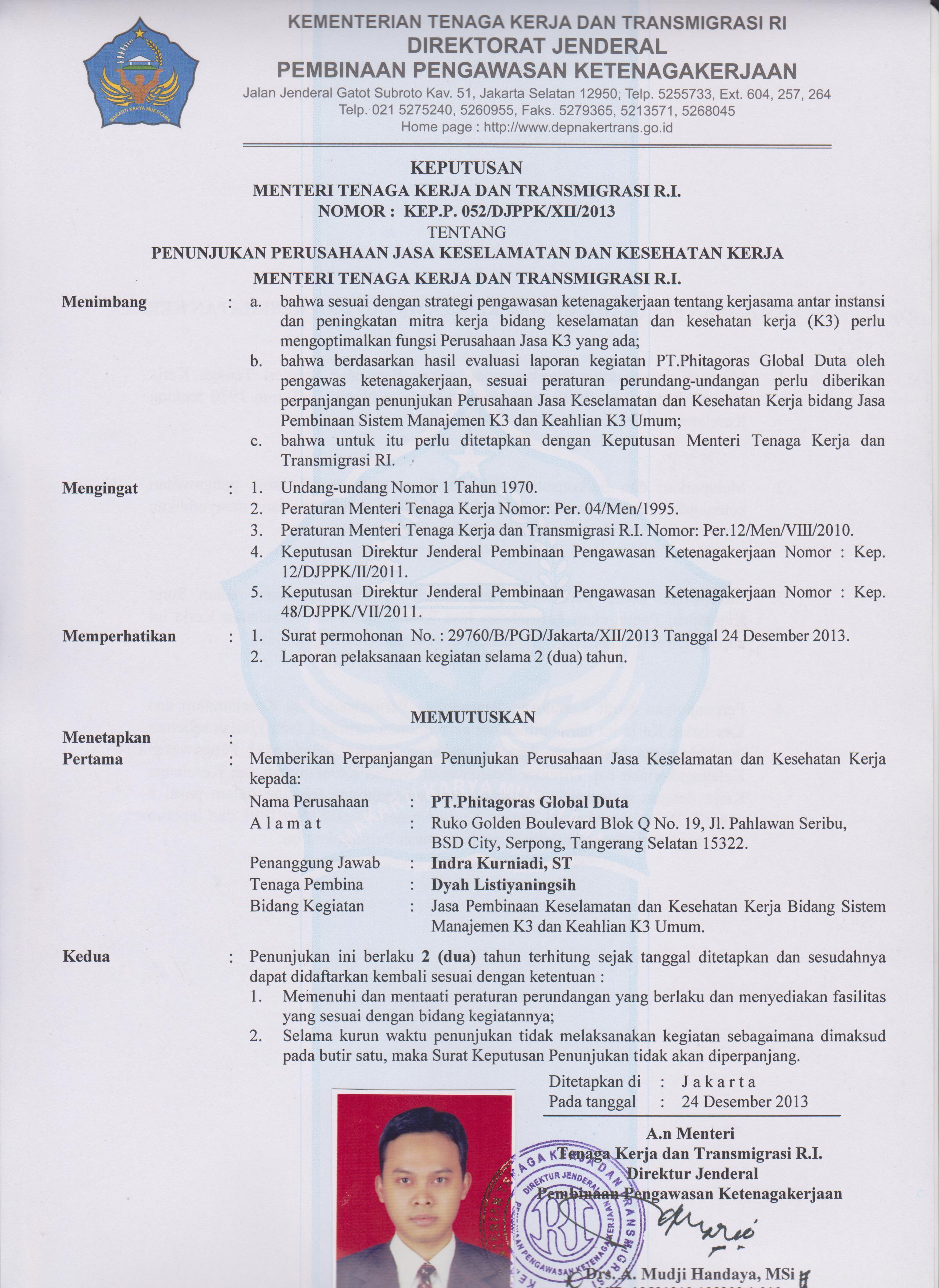 Sertifikat K3 2012 Training Ahli K3 Hse Consultant Konsultan Iso Nebosh Indonesia