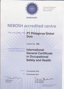 Nebosh International General Certificate Indonesia