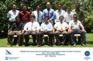Nebosh Training October 11 – 23, 2010 at Bali, Indonesia