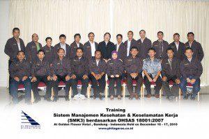 training SMK3 di Hotel Golden Flower, Bandung 16 - 17 Desember 2010