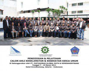 raining Ahli k3 Umum batch VI Hotel Grand Kemang Jakarta, 7 – 19 Maret 2011