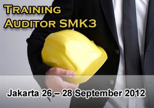 Training Auditor SMK3 bersertifikasi Depnaker