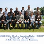 Training Nebosh ITC Oil and Gas Operational Safety Batch V, Lombok 09 – 13 April 2012