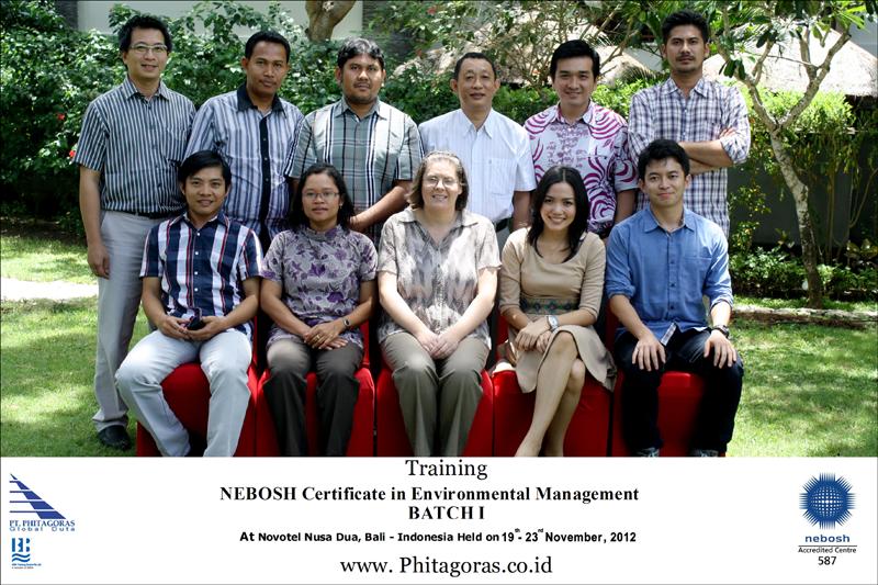 Training Nebosh Environmental Management batch I 19 - 23 November 2012