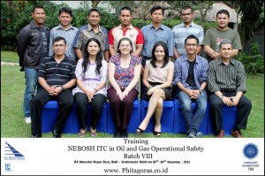 Training Nebosh ITC Oil and Gas Operational Safety Batch VIII