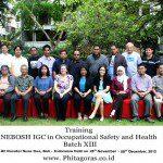 Training NEBOSH IGC Batch XIII, 26 Nov – 18 Des 2012 di Hotel Novotel Nusa Dua Bali Indonesia