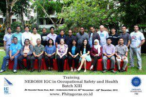 Training Nebosh IGC Batch XIII