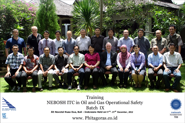 training nebosh ITC batch IX 17 -21 Dec 2012