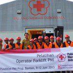 Inhouse Training Operator Forklift Palang Merah Indonesia (PMI), Serang Banten 10 – 12 Juni 2013