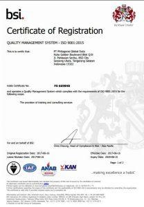 ISO BSI Certficate