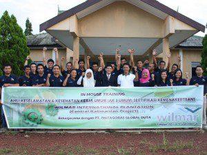 Inhouse Training Ahli K3 Umum PT. Wilmar Internasional Plantation