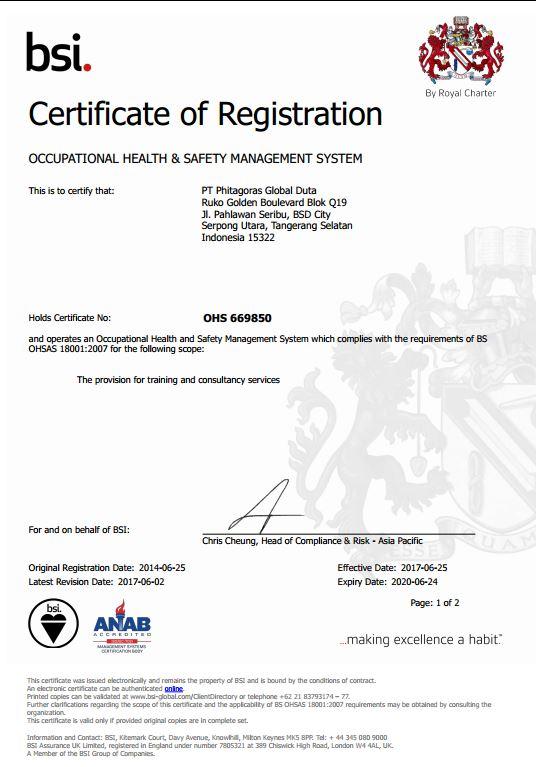 Sertifikasi OHSAS Phitagoras