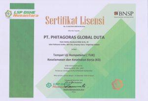 Sertifikat Lisensi LSP OHSE Nusantara