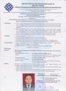sertifikat Forklift