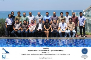 Training Nebosh ITC Oil and Gas Batch XIX, Kuta Bali 3 - 8 November 2014