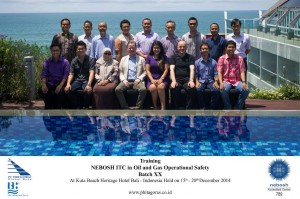 Training Nebosh ITC Batch XX Bali 15 - 20 december 2014
