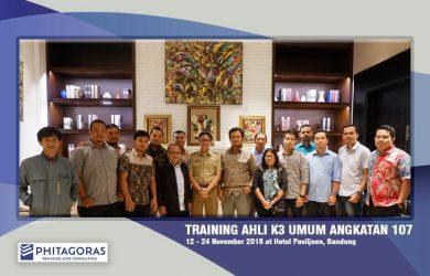Foto Bersama Para Peserta Training Ahli K3 Umum Angkatan 107