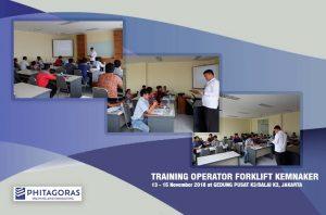 Kegiatan Training Operator Forklift