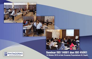 Kegiatan Seminar ISO 14001 dan ISO 45001