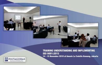 Kegiatan Training Understanding And Implementing ISO 9001:2015