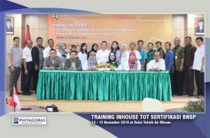 Kegiatan Training Inhouse TOT (Training of Trainer) Balai Teknik Air Minum, 13-15 November 2018