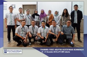 Training First Aid/ P3K Sertifikasi KEMNAKER, PT. MRT Jakarta 19 - 21 Desember 2018